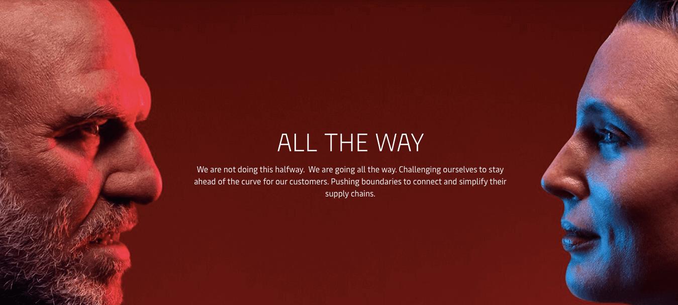 Ejemplo de Storytelling de Maersk - All the way