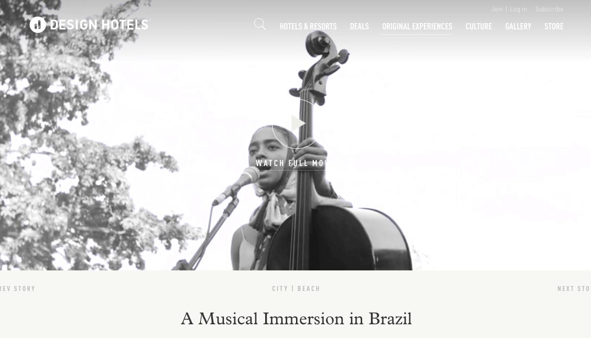 Ejemplo de marketing de contenidos en hoteles: a musical immersion in brazil